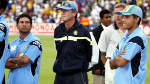 File image of Indian team after defeat to Australia in 2003 World Cup final.(AFP)