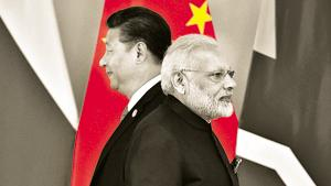 File photo: Chinese President Xi Jinping (L) and Indian Prime Minister Narendra Modi during BRICS Summit.(Reuters)