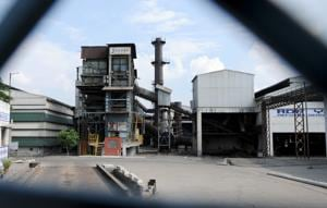 The Jaypee Plant at Dadumajra in Chandigarh.(HT Photo)