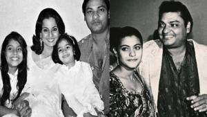 Kajol with her father Shomu Mukherjee.