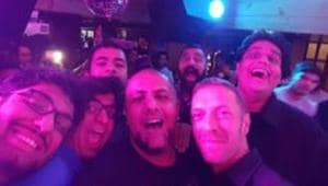 Coldplay frontman Chris Martin at a Delhi cafe in 2015.