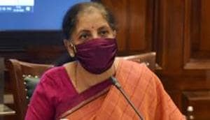 New Delhi: Union Finance Minister Nirmala Sitharaman was addressing members of the PHD Chamber of Commerce through a video conference here.(PTI)