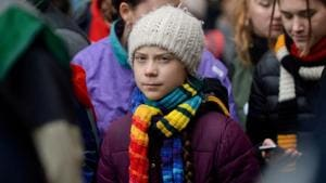 """Swedish climate activist Greta Thunberg blasts governments and businesses that use what she calls """"creative accounting"""" to makes their emissions look lower than they are and apply the word """"green"""" to industries that are not.(REUTERS)"""