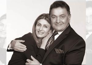 The writer of this tribute, Riddhima Kapoor Sahni with her dad, actor Rishi Kapoor