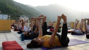 The Uttarakhand government on Sunday announced setting up of a Yoga and Naturopathy Medicine Cell at the Ayurveda directorate in the state.(FILE PHOTO.)