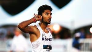 Tejaswin Shankar at a competition. File image.(Instagram/Tejaswin Shankar)