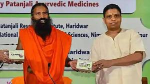 Patanjali Ayurved Ltd's claim of a breakthrough cure for the coronavirus disease (Covid-19) needs vetting, experts said, despite the company claiming to have conducted a randomised placebo-controlled clinical trial.(Photo: @PypAyurved/Twitter)