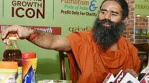 Yoga Guru Baba Ramdev had launched Coronil on Tuesday and claimed it had 100% record of curing coronavirus cases.(HT Photo)