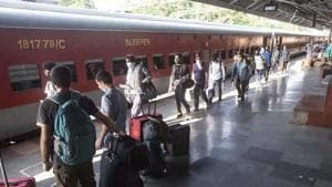 Passenger trains, including express and suburban services that were earlier suspended till June 30, will not operate till August 12, according to an internal circular of the railway board on Thursday.(File photo)