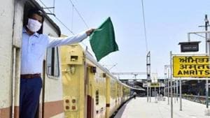 Railway Board Chairman VK Yadav said the Railways has identified 160 projects for returnee migrant workers which will generate around nine lakh mandays of work under the Garib Kalyan Rojgar Abhiyan in 6 states.(HT Photo)