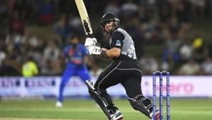 New Zealand's Ross Taylor bats during the Twenty/20 cricket international between India and New Zealand at Bay Oval in Mt Maunganui, New Zealand.(AP)