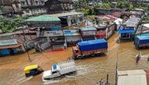 A total of 18,234 persons uprooted due to flooding are taking shelter in 142 camps in 9 of the affected districts. Rescue personnel evacuated 151 people trapped due to floods in Dhemaji, Nalbari and Dibrugarh districts on Friday.(PTI)