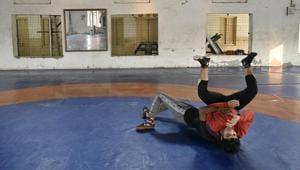 Women wrestler practice at Sonipat(Biplov Bhuyan/HT PHOTO)