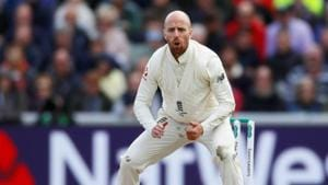 England's Jack Leach in action.(Action Images via Reuters)