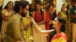 Vikram and Srinidhi Shetty in a still from Cobra.