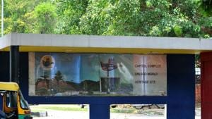 A newly built bus shelter in Sector 17, Chandigarh.(HT Photo)