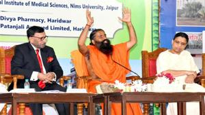 The complaint stated that Patanjali only had the requisite permission to make an immunity booster and their claim of AYUSH Ministry permitting them to make the cure is false.(ANI file photo)