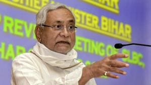A makeshift hospital has been set up at Bihar Chief Minister Nitish Kumar's residence after a relative tested positive for Covid-19.(PTI)