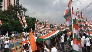 The BJP has already kickstarted its virtual 'Jan samvad' to spread the its message with elections in Bihar and Bengal ahead. There is no such activity seen on the Congress side. (HT photo)