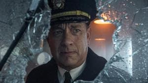 This image released by Apple TV Plus shows Tom Hanks in a scene from Greyhound.(AP)