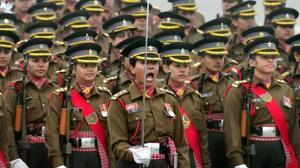 All women contingent of Indian Army during the rehearsal for the Republic Day parade at Rajpath in New Delhi.(PTI File Photo)