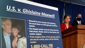 Audrey Strauss, Acting United States Attorney for the Southern District of New York speaks alongside William F. Sweeney Jr., Assistant Director-in-Charge of the New York Office, at a news conference announcing charges against Ghislaine Maxwell for her role in the sexual exploitation and abuse of minor girls by Jeffrey Epstein in New York City, New York, US.(REUTERS)