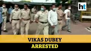 Watch how gangster Vikas Dubey reacted after being nabbed by police in MP