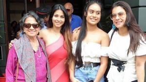 Three generations of the Mukerji women unite in Tanishaa's throwback picture.