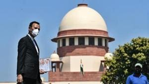 The petitioner, Dumpala Ramreddy, was asked by the apex court to provide Mehta with a copy of the petition so that he can suggest solutions to deal with the problem.(Biplov Bhuyan/HT PHOTO)
