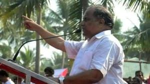 Former MP Mudragada Padmanabham had been leading agitations for the last two decades demanding reservations for the Kapu community under Other Backward Classes (OBC) category has withdrawn the agitation.(HT FILE PHOTO.)