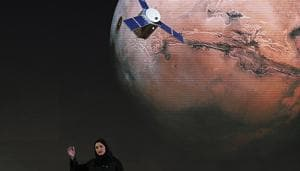 In this 2015 file photo, Sarah Amiri, deputy project manager of the United Arab Emirates Mars mission, talks about the project named
