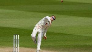 England's Dom Bess in action.(REUTERS)
