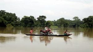 Five deaths due to drowning-2 in Morigaon district and one each in Barpeta, Lakhimpur and Goalpara-were reported during the day.(PTI)