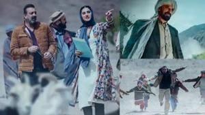 Sanjay Dutt, Nargis Fakhri and Rahul Dev's stills from the film Torbaaz.