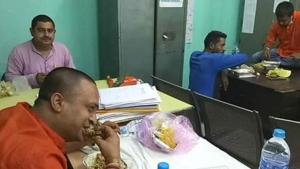 BJP leaders who were protesting death of colleague were taken to police custody where they say police had brought them mutton curry and rice for lunch.(Facebook)