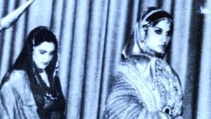 Rani Balbir Kaur in the play Rani Jindan.(HT Photo)