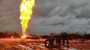 Authorities are trying to douse the flame at Baghjan oil well in Assam's Tinsukia district for over a month.(ANI File Photo)