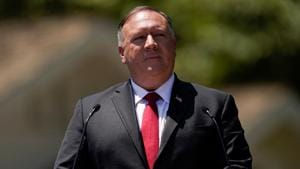 US Secretary of State Mike Pompeo speaks at the Richard Nixon Presidential Library, in Yorba Linda, California, on Thursday.(Reuters Photo)