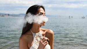 Vaping has negative effects on the lungs and is detrimental to the developing foetus during pregnancy. (Representational Image)(Unsplash)