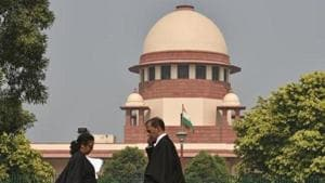 A view of the Supreme Court of India in Delhi.(Sanchit Khanna/HT PHOTO)