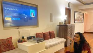 Vidya Balan watches her film, Shakuntala Devi.