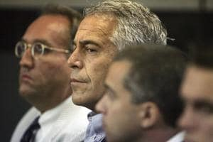 Jeffrey Epstein appears in court in West Palm Beach, Fla. Newly unsealed court documents provide a fresh glimpse into a fierce civil court fight between Epstein's ex-girlfriend, Ghislaine Maxwell, and one of the women who accused the couple of sexual abuse.(AP)