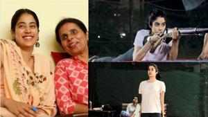 Janhvi Kapoor and Gunjan Saxena in a still from the video.