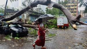 Incessant heavy rainfall led to water-logging in several areas, with reports of houses collapsing and trees uprooted coming in from several areas of Mumbai.(SATISH BATE/HT PHOTO.)