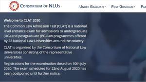 CLAT 2020 exam postponed.(Screengrab)