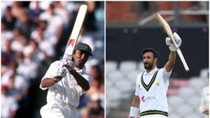 Saeed Anwar (left) and Shan Masood (right) scored centuries against England in England as openers, 24 years apart from each other.(Twitter/PCB)