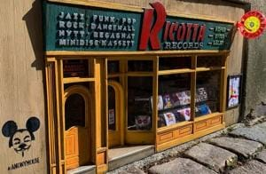 Ricotta Records: Anonymouse artists install miniature, mouse-themed record store in Sweden