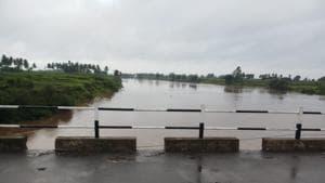Water level of river Krishna at Arjunwad in Kohlapur district, Maharashtra.(Photo Credit: Maharashtra governmen)
