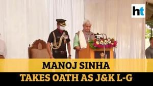 Watch: Manoj Sinha takes oath as new L-G of Jammu and Kashmir