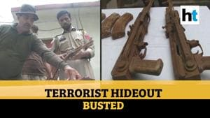 Watch: Terrorist hideout busted in J&K's Poonch, AK-47 rifles recovered
